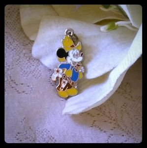 Vintage Enameled Mickey Mouse Cowboy Pendant